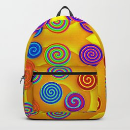 Colorful soft twirls by wool Backpack