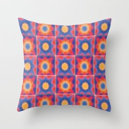 Painted Sunny Throw Pillow