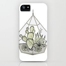 Succulent Terrarium iPhone Case