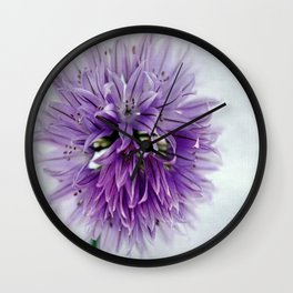 chives bloom Wall Clock