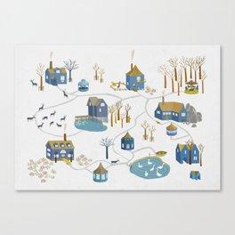 BLUE VILLAGE Canvas Print