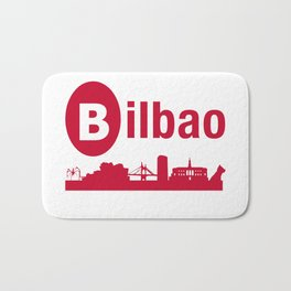 Bilbao, home of the Guggenheim and Athletic in Spain Bath Mat