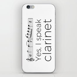 I speak clarinet iPhone Skin
