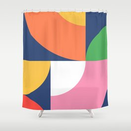 Abstract Geometric 17 Shower Curtain