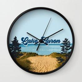 Lake Huron Retro Wall Clock
