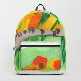 Parrots In A Row Backpack