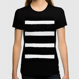 Black & White Paint Stripes by Friztin T-shirt