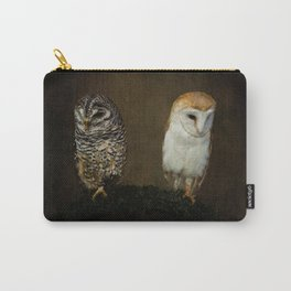 Barn And Tawny Owl Carry-All Pouch