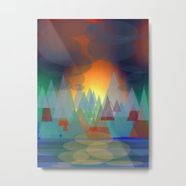 Alpine Sunset Metal Print