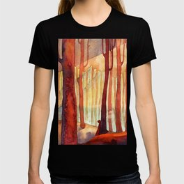 red wood, watercolor T-shirt