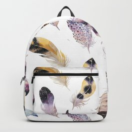 Trial feathers pattern Backpack