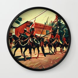 Canada Day Procession Wall Clock