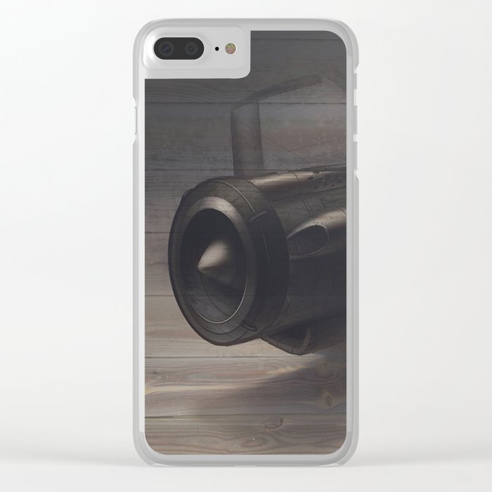 Old airplane 3 Clear iPhone Case