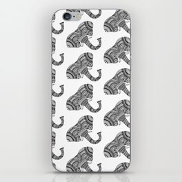 Zentangle Elephant iPhone Skin