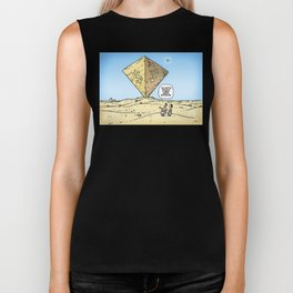 Pyramid of Wealth Biker Tank