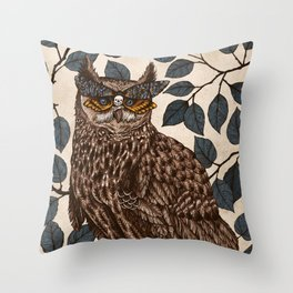 Deaths Head Throw Pillow