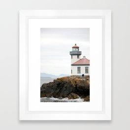 San Juan Island Lighthouse Framed Art Print
