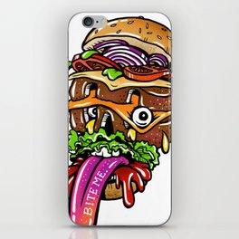 Brger Fce iPhone Skin