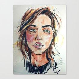 Emilia Clarke Canvas Print