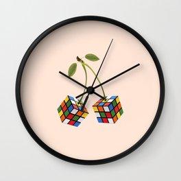 Cherry rubik Wall Clock
