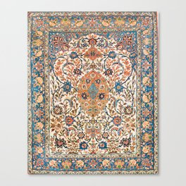 Isfahan Antique Central Persian Carpet Print Canvas Print