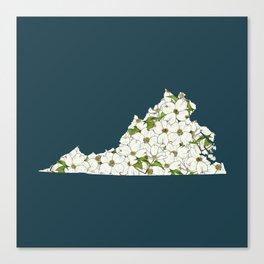 Virginia in Flowers Canvas Print