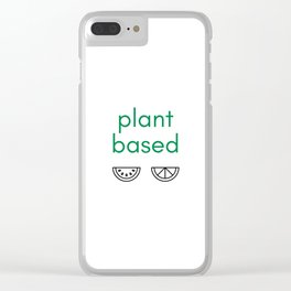 PLANT BASED - VEGAN Clear iPhone Case