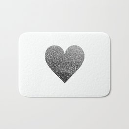 BLACK HEART Bath Mat