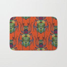 flower beetle orange Bath Mat