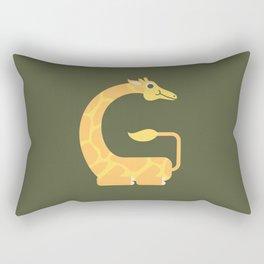 Letter G // Animal Alphabet // Giraffe Monogram Rectangular Pillow