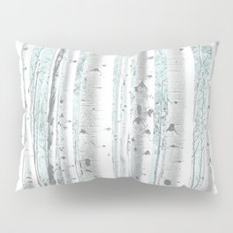 Pale Birch and Blue Pillow Sham
