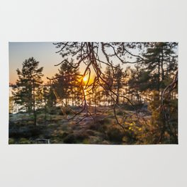 Sunset At Summer In Finland Rug