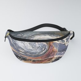 The Wave Etched in Stone Fanny Pack
