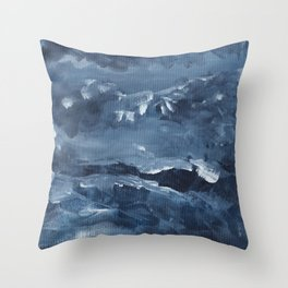 Gray Splash Throw Pillow