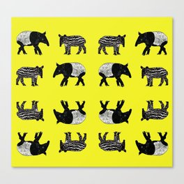 Dance of the Tapirs  Canvas Print