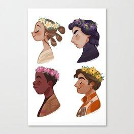 Flower set Canvas Print