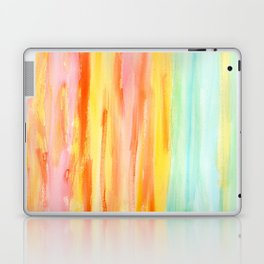 Summer Sunset Abstract Painting Stripes Pattern Modern - Be Yourself And Fall In Love Laptop & iPad Skin