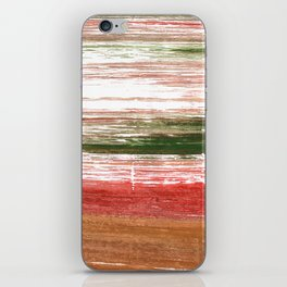 Copper abstract watercolor iPhone Skin