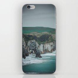 Cliffs of dunluce castle iPhone Skin