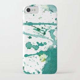 emerald green splash iPhone Case