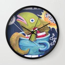 Beach House Coffee Wall Clock