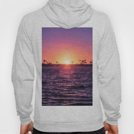Mission Bay Palm Tree Sunset in San Diego, California Hoody