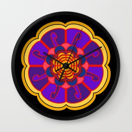 Yellow Flower Wall Clock