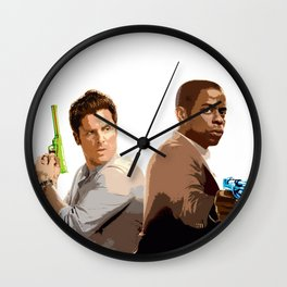 Shawn and Gus (Psych) 2 Wall Clock