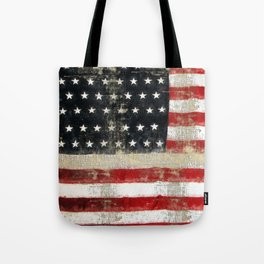 USA Flag ~ American Flag ~ Distressed Pattern ~ Ginkelmier Inspired Tote Bag