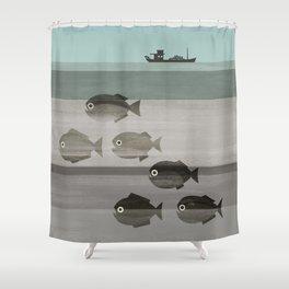 Pirañas en el río / river piranhas Shower Curtain