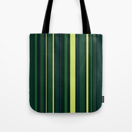 Yellow and Shades of Green Stripes Tote Bag