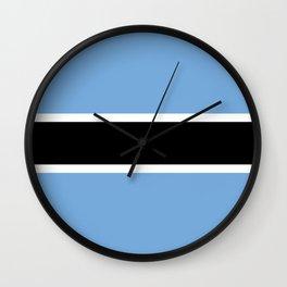 Flag: Botswana Wall Clock