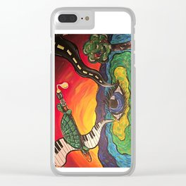 Melting Paint Clear iPhone Case