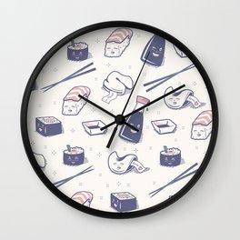 Enjoy Happy Sushi Wall Clock
